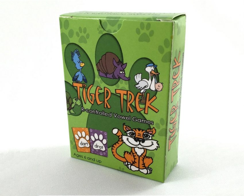 Tiger Trek R-controlled Vowel Card Games