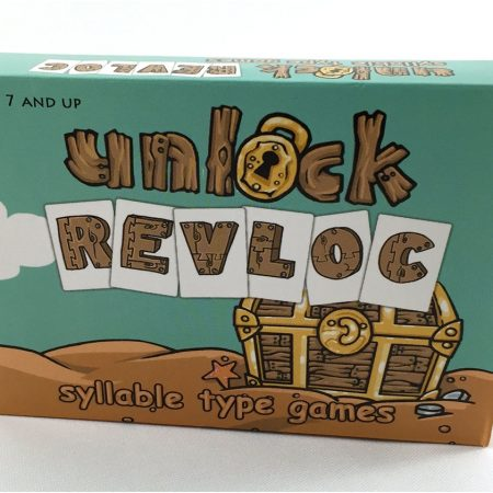 Unlock REVLOC Syllable Type Card Games
